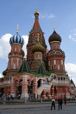 Chrám Vasila Blaženého v Moskve.